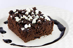 brownie chocolate blanco